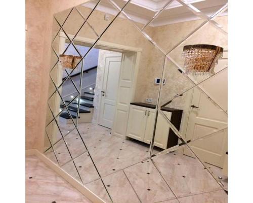Большое зеркальное панно для коридора