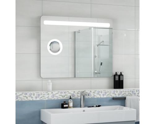 Зеркало с подсветкой для ванной комнаты Фибра